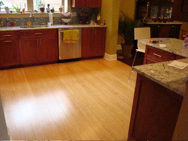High Quality Bamboo Flooring Kitchen