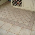 tile floor w/decorative border